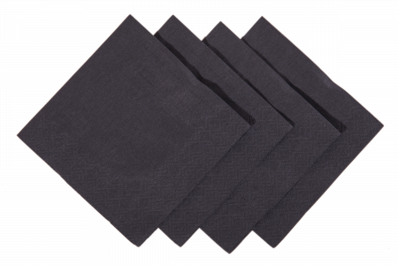 Cocktail Napkins 24cm 2ply (Black) x 250s