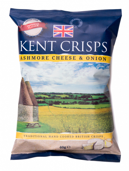 Kent Crisps Ashmore Cheese & Onion 20 x 40g